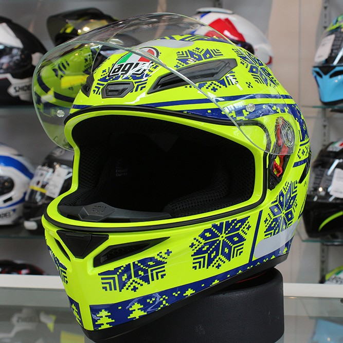 Capacete AGV K-1 Winter Test 15 Valentino Rossi (k-1 - COM + 1,00 LEVE JUNTO A TOUCA BALACLAVA)  - Planet Bike Shop Moto Acessórios