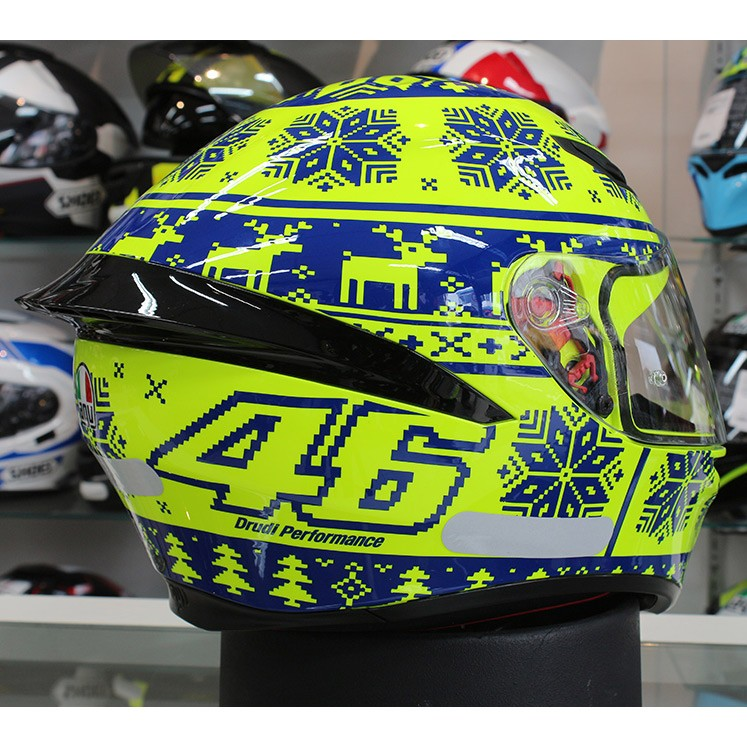 Capacete AGV K-1 Winter Test 15 Valentino Rossi Oficial Piloto (K1) - COM + 1,00 LEVE JUNTO A TOUCA BALACLAVA  - Planet Bike Shop Moto Acessórios