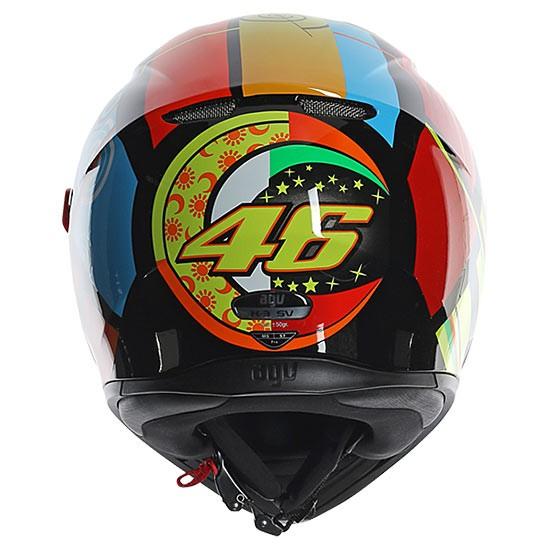 Capacete AGV K3 SV Elements C/ Viseira Interna Solar - Réplica Oficial Valentino Rossi   - Planet Bike Shop Moto Acessórios