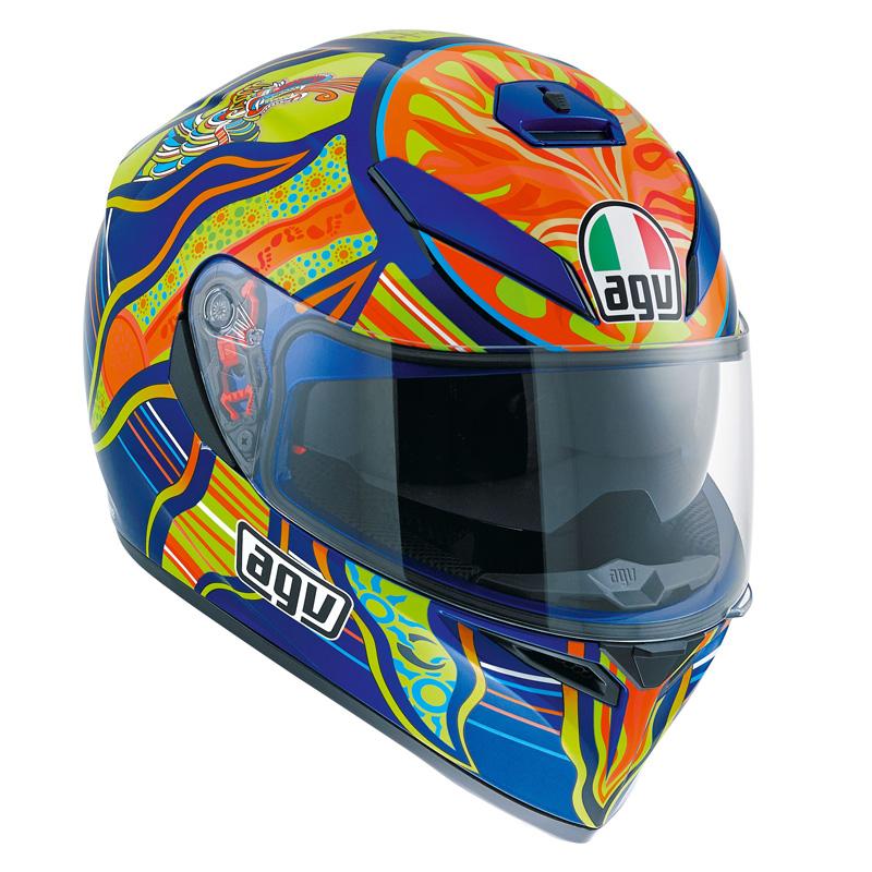 Capacete AGV K-3 SV Five Continents - Réplica Oficial Valentino Rossi  - Planet Bike Shop Moto Acessórios