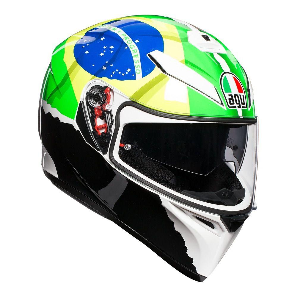 Capacete AGV K-3 SV Morbidelli C/ Viseira Interna Solar  - Planet Bike Shop Moto Acessórios