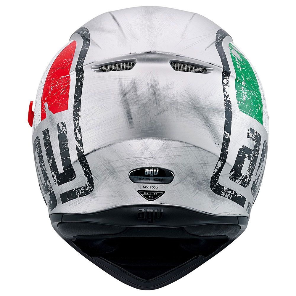 Capacete AGV K-3 SV Scudetto Multi C/ Viseira Interna Solar  - Planet Bike Shop Moto Acessórios