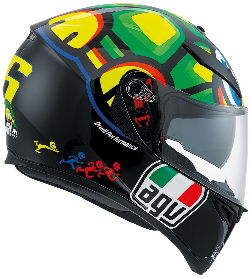 Capacete AGV K-3 SV Turtle Valentino Rossi C/ Viseira Interna Solar (Tartaruga)  - Planet Bike Shop Moto Acessórios