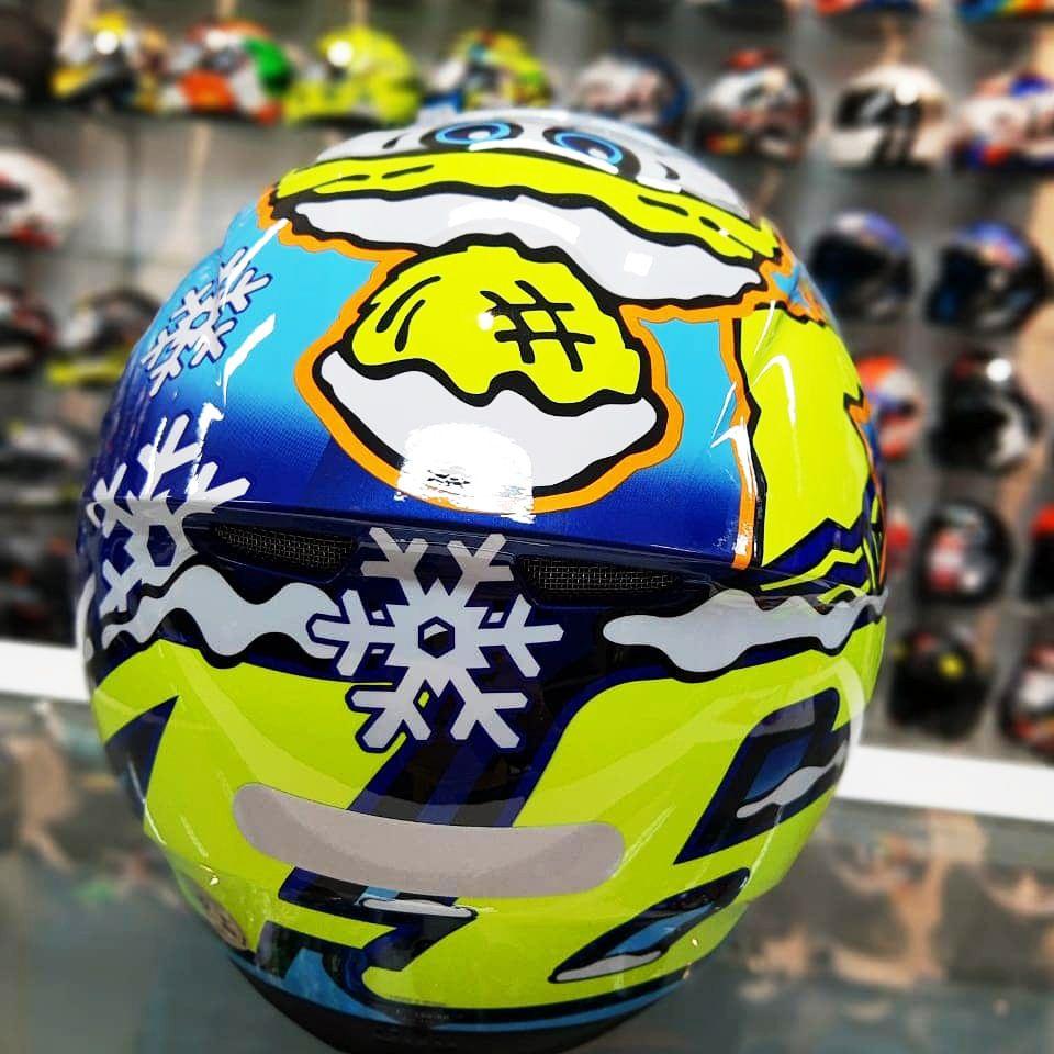 Capacete AGV K3 SV Winter Test 16 C/ Viseira Interna Solar - Réplica Oficial Valentino Rossi   - Planet Bike Shop Moto Acessórios