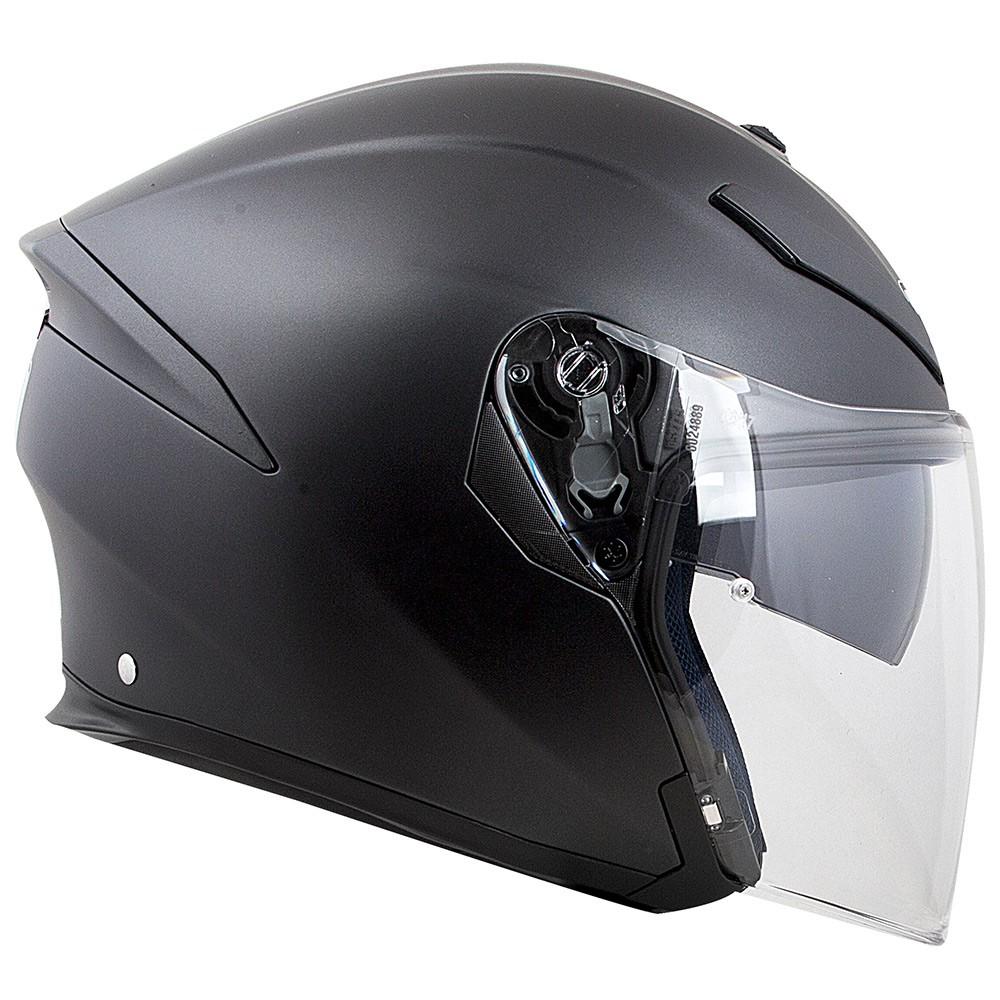 Capacete AGV K-5 Jet Preto Fosco - Aberto - NOVO!  - Planet Bike Shop Moto Acessórios