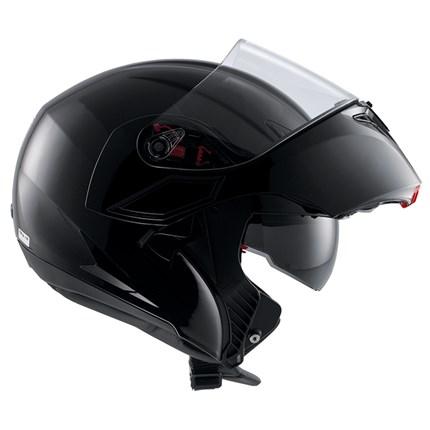 Capacete AGV Numo Evo Preto Brilho - Escamoteável  - Planet Bike Shop Moto Acessórios