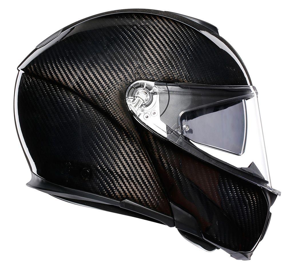 Capacete AGV Sportmodular Carbon Solid Articulado  - Planet Bike Shop Moto Acessórios