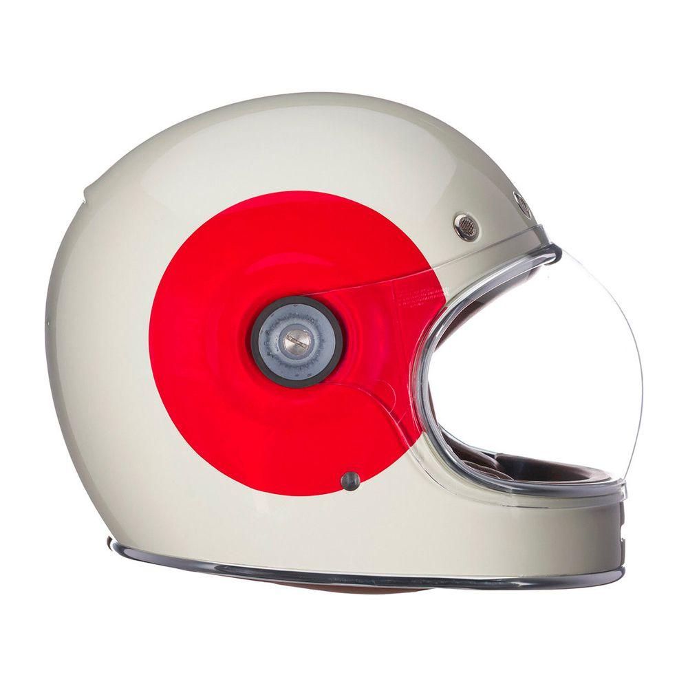 Capacete Bell Bullitt TT Vintage Gloss White/Red  - Planet Bike Shop Moto Acessórios