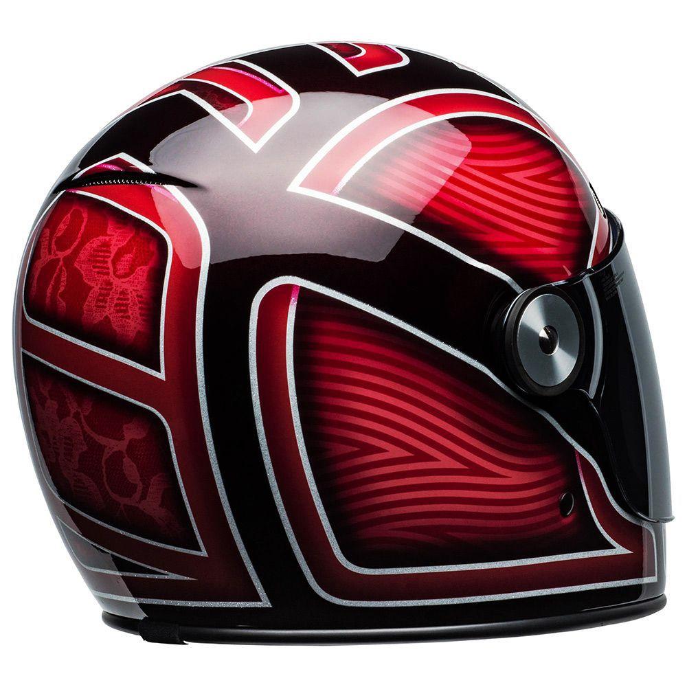 Capacete Bell Bulitt Ryder Vermelho/Preto + Viseira Brinde   - Planet Bike Shop Moto Acessórios