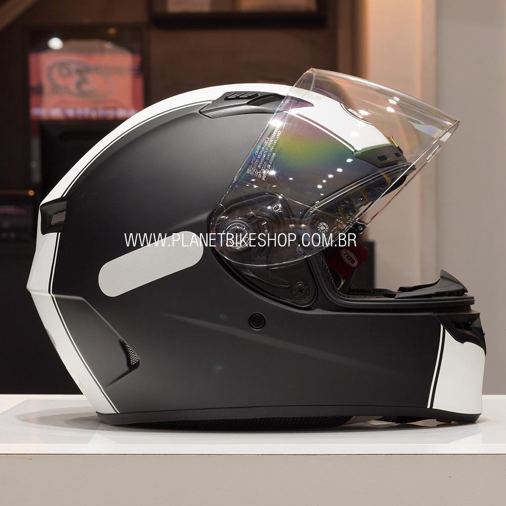CAPACETE BELL QUALIFIER DLX RALLY MATTE (BLACK WHITE)  - Planet Bike Shop Moto Acessórios