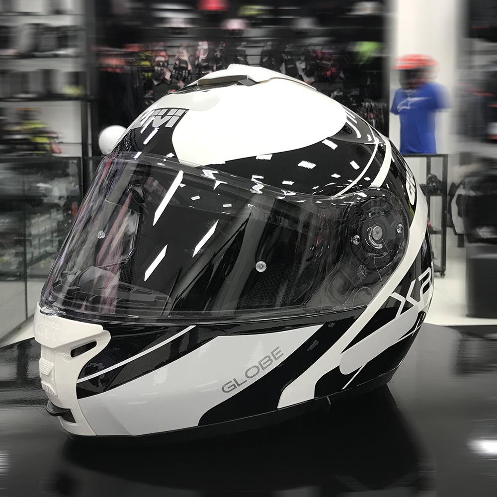 Capacete Givi X21 Globe - Black/White  - Planet Bike Shop Moto Acessórios