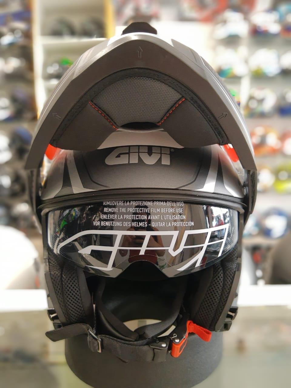CAPACETE GIVI X21 SHIVER TITÂNIO/PRATA (ARTICULADO) LANÇAMENTO   - Planet Bike Shop Moto Acessórios