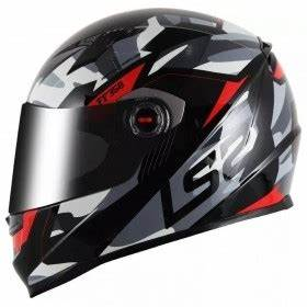 Capacete LS2 FF358 TANK PREOT/VERMELHO  - Planet Bike Shop Moto Acessórios