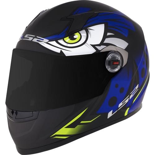 Capacete LS2 FF358 Tribal Azul   - Planet Bike Shop Moto Acessórios