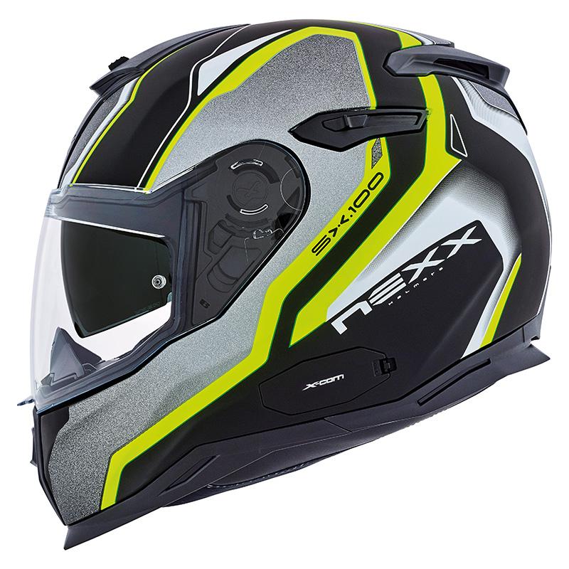 Capacete Nexx SX100 Blast Neon C/ Viseira Solar