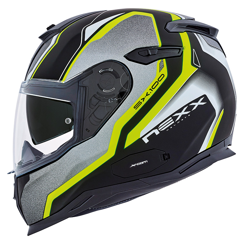 Capacete Nexx SX100 Blast Neon C/ Viseira Solar - Mês do Motociclista