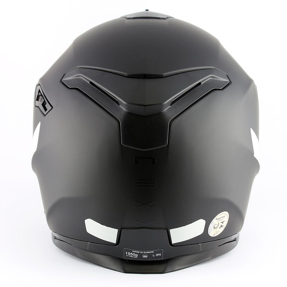 Capacete Nexx SX100 Core Edition Black Matt C/ Viseira Solar   - Planet Bike Shop Moto Acessórios