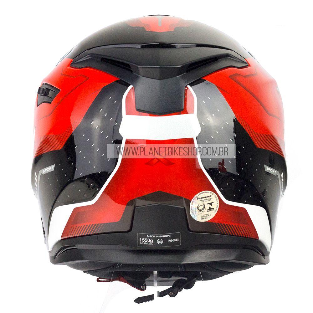 Capacete Nexx Sx100 Mantik Vermelho/Preto Brilho - Acompanha Pinlock (Película Anti-Embaçante)  - Planet Bike Shop Moto Acessórios