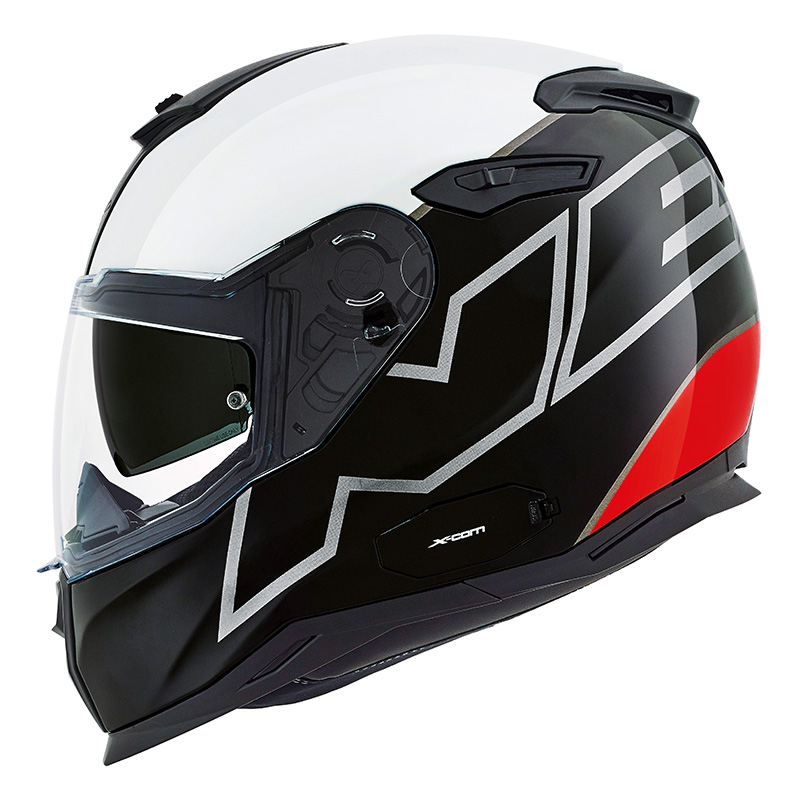 Capacete Nexx Sx100 Orion Preto/branco/vermelho C/ Viseira Solar   - Planet Bike Shop Moto Acessórios