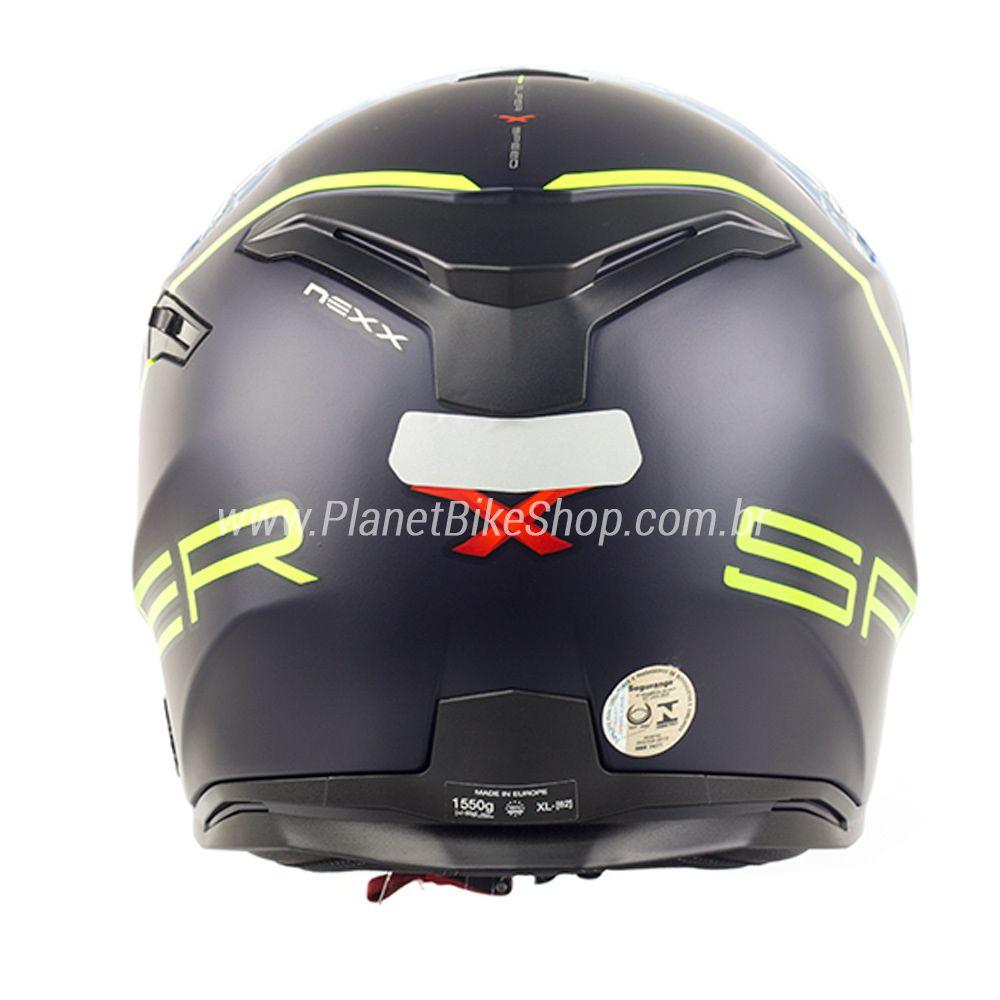 Capacete Nexx Sx100 Super Speed Azul/Amarelo Fosco - Acompanha Pinlock (Película Anti-Embaçante)  - Planet Bike Shop Moto Acessórios
