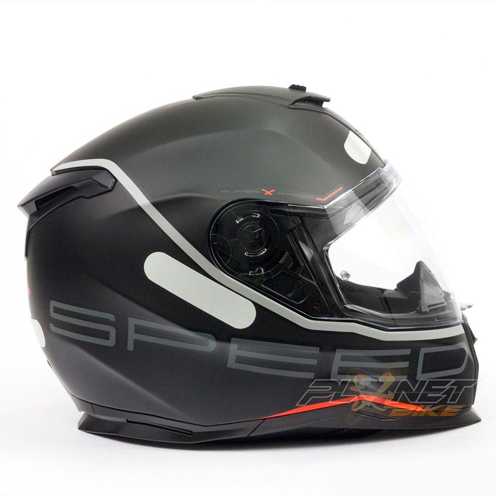 Capacete Nexx SX100 Super speed - C/ Viseira Solar (Ganhe um Pinlock Anti-Embaçante!)  - Planet Bike Shop Moto Acessórios
