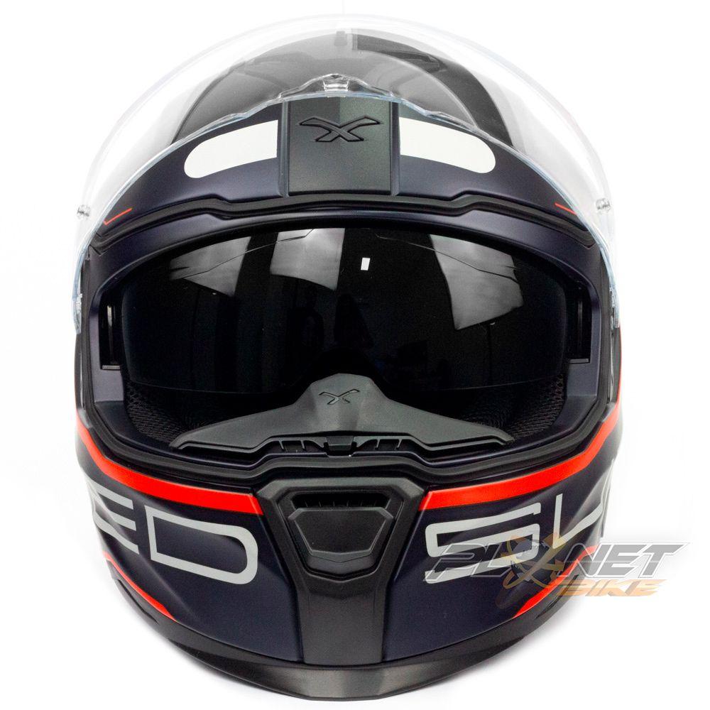 Capacete Nexx SX100 Super Speed - Blue C/ Viseira Solar (Ganhe um Pinlock Anti-Embaçante!)  - Planet Bike Shop Moto Acessórios