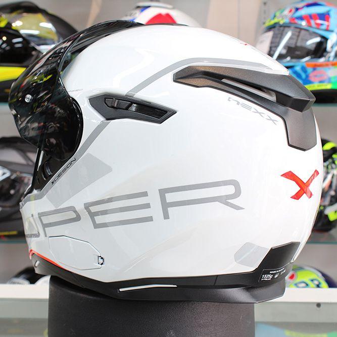 Capacete Nexx SX100 Super Speed White C/ Viseira Solar CONSULTE-NOS   - Planet Bike Shop Moto Acessórios