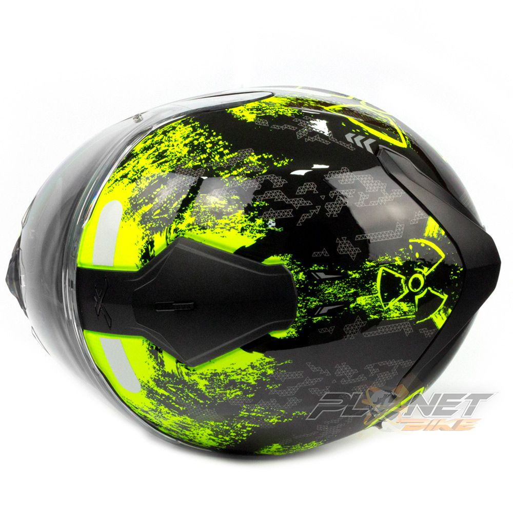Capacete Nexx SX100 Toxic C/ Viseira Solar (Ganhe um Pinlock Anti-Embaçante!)  - Planet Bike Shop Moto Acessórios