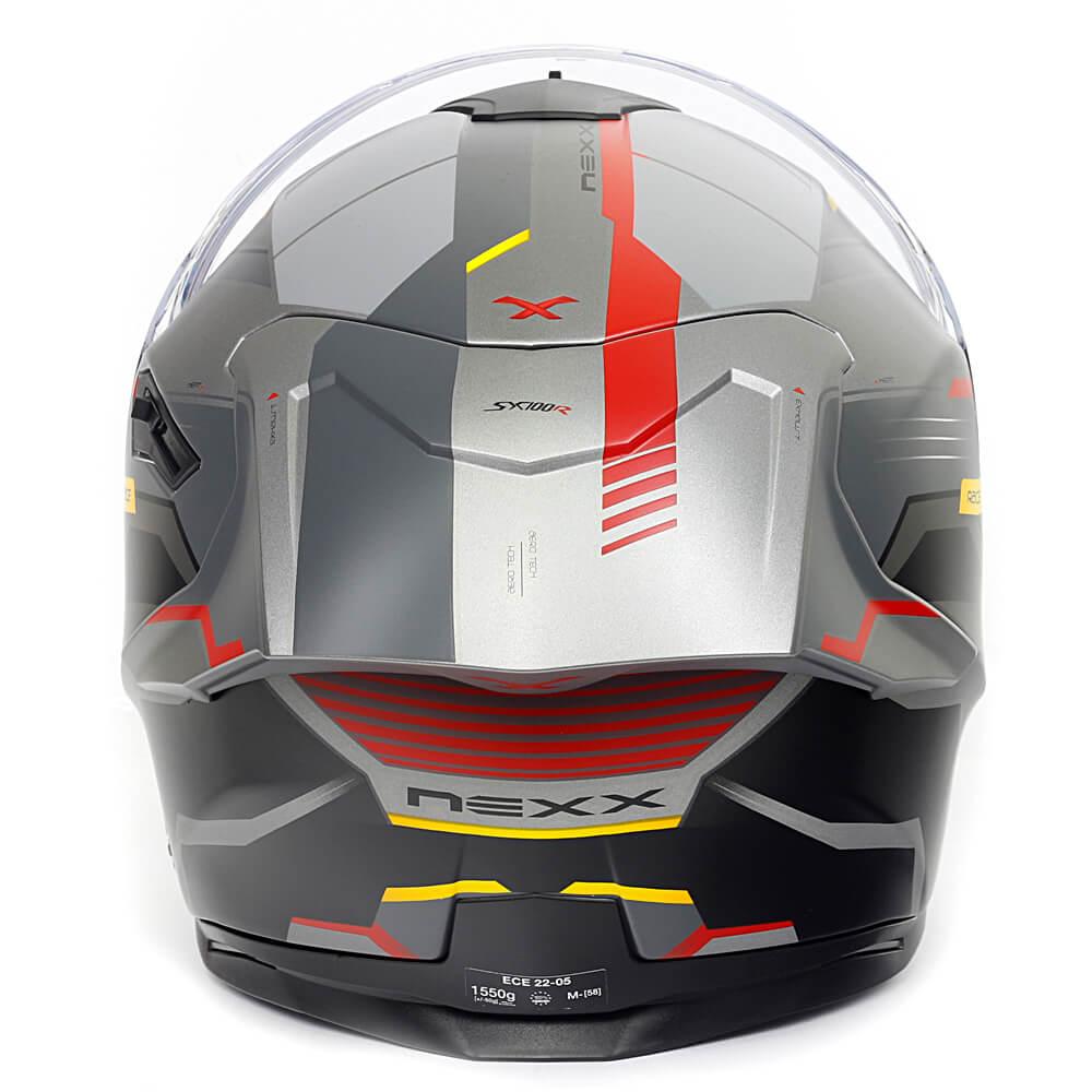 Capacete Nexx Sx100R Gridline Cinza/Vermelho Fosco - Acompanha Pinlock (Película Anti-Embaçante)  - Planet Bike Shop Moto Acessórios