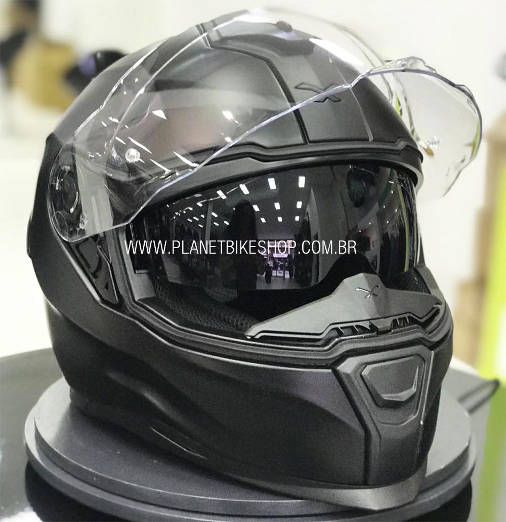 Capacete Nexx Sx100R Preto Fosco - Acompanha Pinlock (Película Anti-Embaçante)  - Planet Bike Shop Moto Acessórios