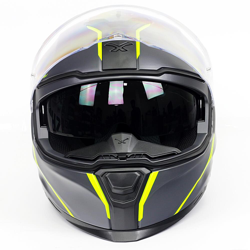 Capacete Nexx Sx100R Shortcut Cinza/Neon - Acompanha Pinlock (Película Anti-Embaçante)  - Planet Bike Shop Moto Acessórios
