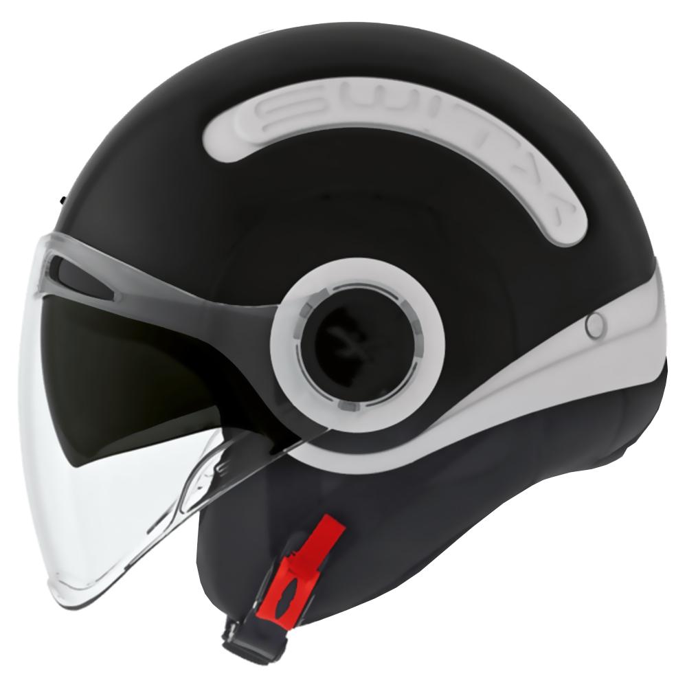 Capacete Nexx SX10 fundo Branco com Capinha Preta - Troca Capinha - Aberto  - Planet Bike Shop Moto Acessórios