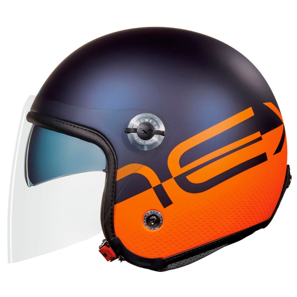 Capacete Nexx X70 City - Matt Blue/Orange - Planet Bike Shop Moto Acessórios