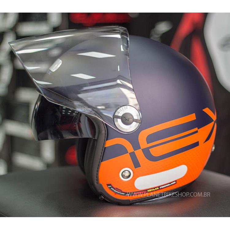 Capacete Nexx X70 City - Matt Blue/Orange  - Planet Bike Shop Moto Acessórios