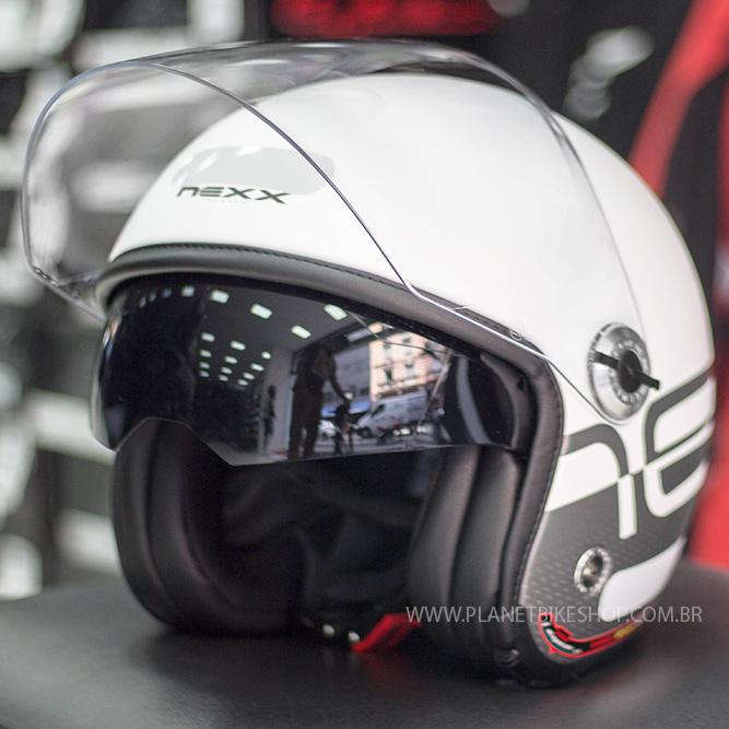 Capacete Nexx X70 City - Matt White/Black  - Planet Bike Shop Moto Acessórios