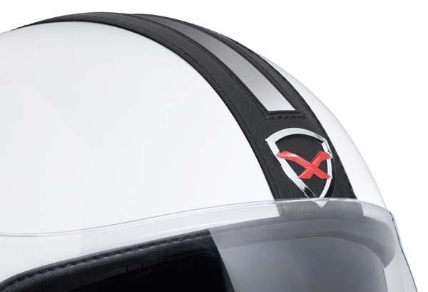 Capacete Nexx X70 Groovy Branco c/ Preto Aberto   - Planet Bike Shop Moto Acessórios
