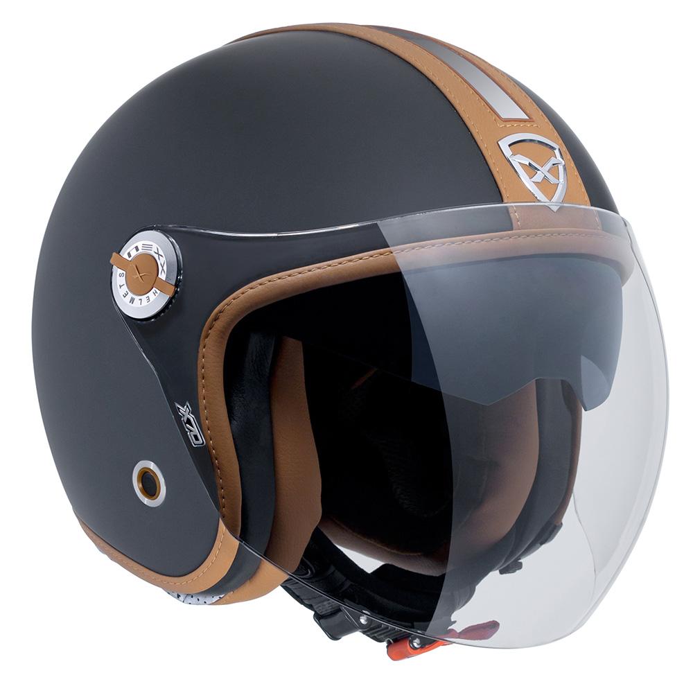 Capacete Nexx X70 Groovy Preto Camel  Aberto   - Planet Bike Shop Moto Acessórios
