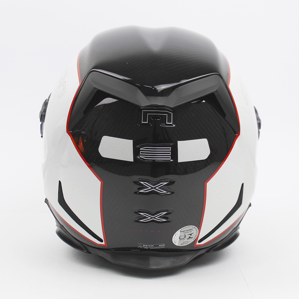 Capacete Nexx XR2 Carbon Branco (Carbono) Brinde Viseira Fumê + Pinlock Anti-Embaçante  - Planet Bike Shop Moto Acessórios