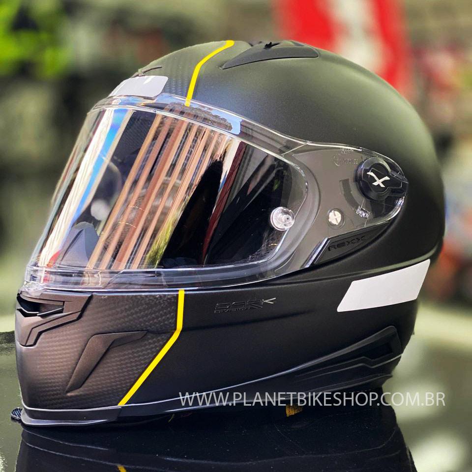 Capacete nexx XR2 Carbon Dark Division - BRINDE: PELÍCULA ANTI EMBAÇANTE PINLOCK  - Planet Bike Shop Moto Acessórios