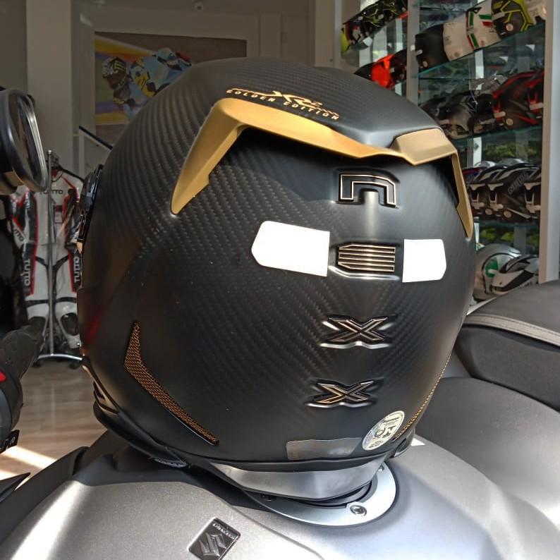 Capacete Nexx XR2 Carbon Golden Edition: Brinde Viseira Espelhada Dourada + Pinlock  - Planet Bike Shop Moto Acessórios