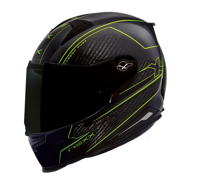Capacete Nexx XR2 Carbon Pure Neon Tri-Composto  - Planet Bike Shop Moto Acessórios