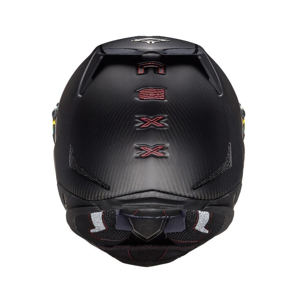 Capacete Nexx XR2 Carbon Redline Preto/Vermelho: Brinde Viseira Espelhada Vermelha + Pinlock  - Planet Bike Shop Moto Acessórios