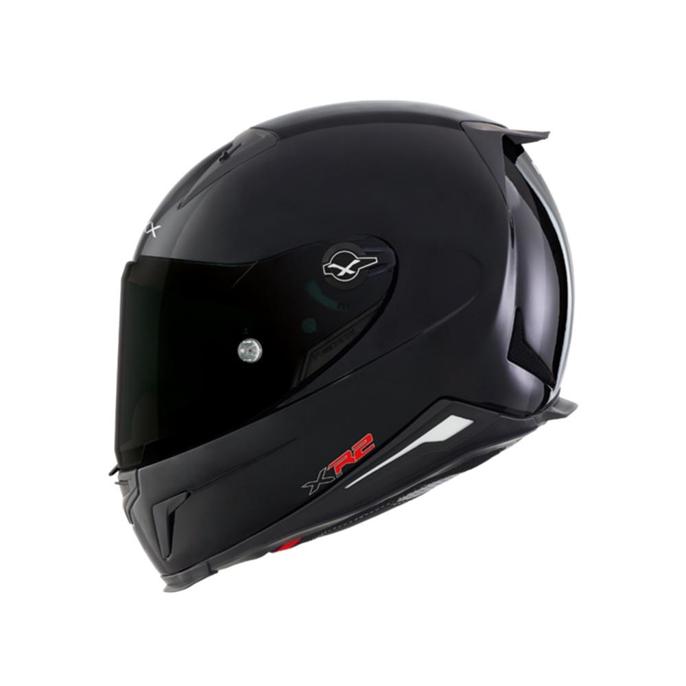 Capacete Nexx XR2 Plain Preto Brilho Tri-Composto  - Planet Bike Shop Moto Acessórios