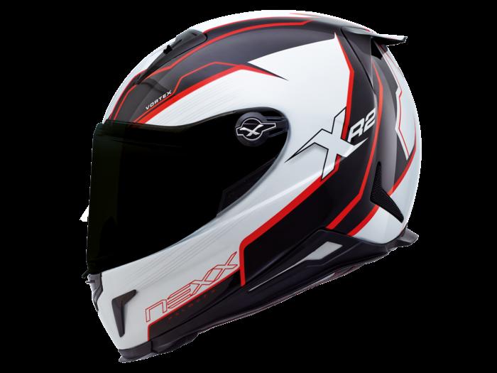 Capacete Nexx XR2 Vortex Vermelho Tri-Composto   - Planet Bike Shop Moto Acessórios