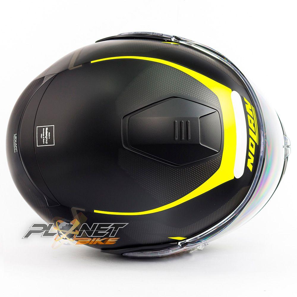 Capacete Nolan N100-5 Lumiere Amarelo Fosco (37) -  Escamoteável c/ Viseira Interna (GANHE BALACLAVA DE BRINDE)  - Planet Bike Shop Moto Acessórios