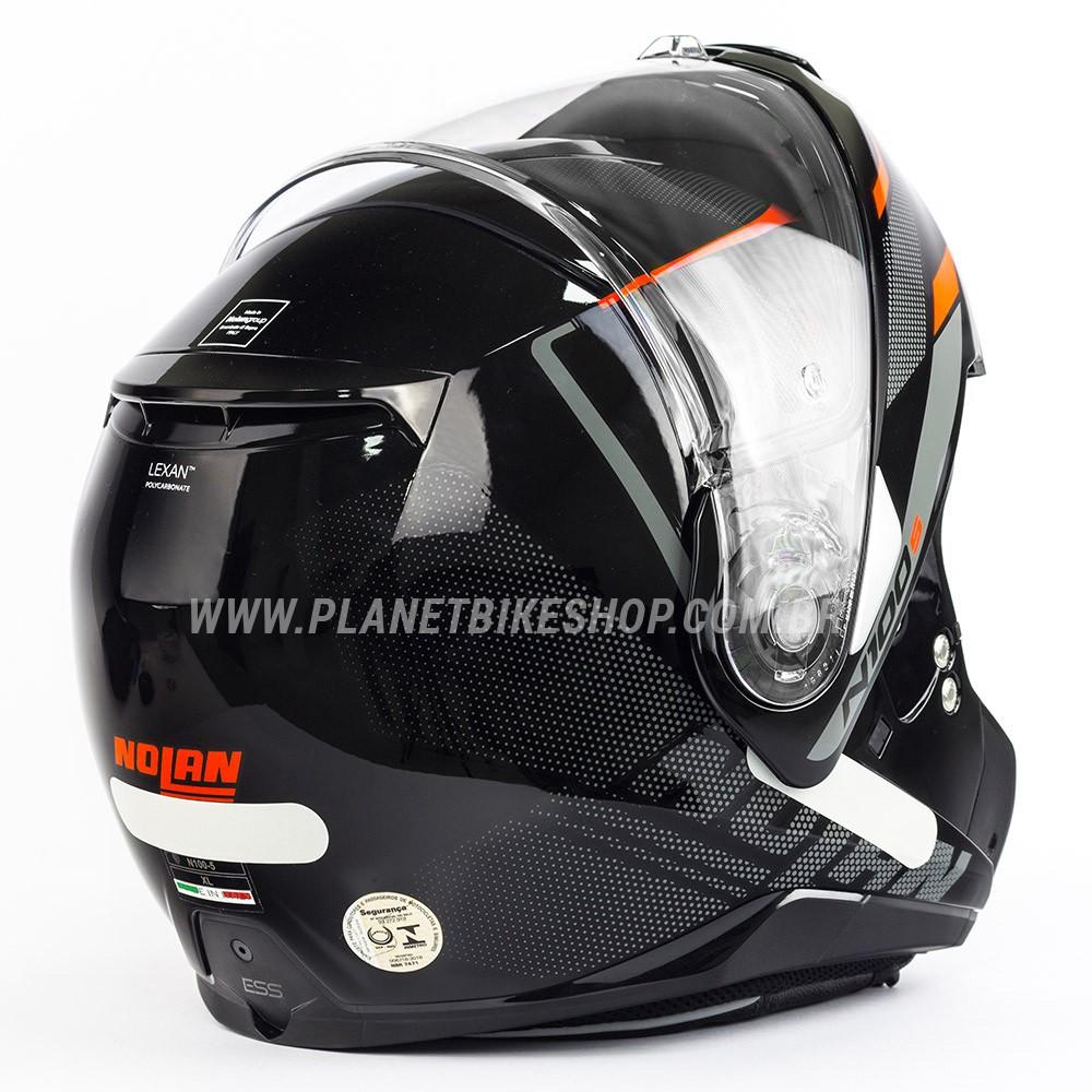 Capacete Nolan N100-5 Lumiere Vermelho (39) - Escamoteável C/ Viseira Solar (Ganhe Touca Balaclava)  - Planet Bike Shop Moto Acessórios