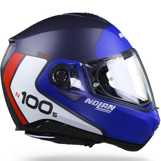 Capacete Nolan N100-5 Plus Distinctive Imperial Blue Escamoteável C/ Viseira Solar (Ganhe Touca Balaclava)  - Planet Bike Shop Moto Acessórios