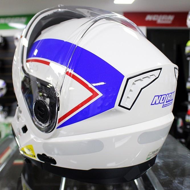 Capacete Nolan N104 Evo Scovery Azul/Branco Escamoteável  - Planet Bike Shop Moto Acessórios