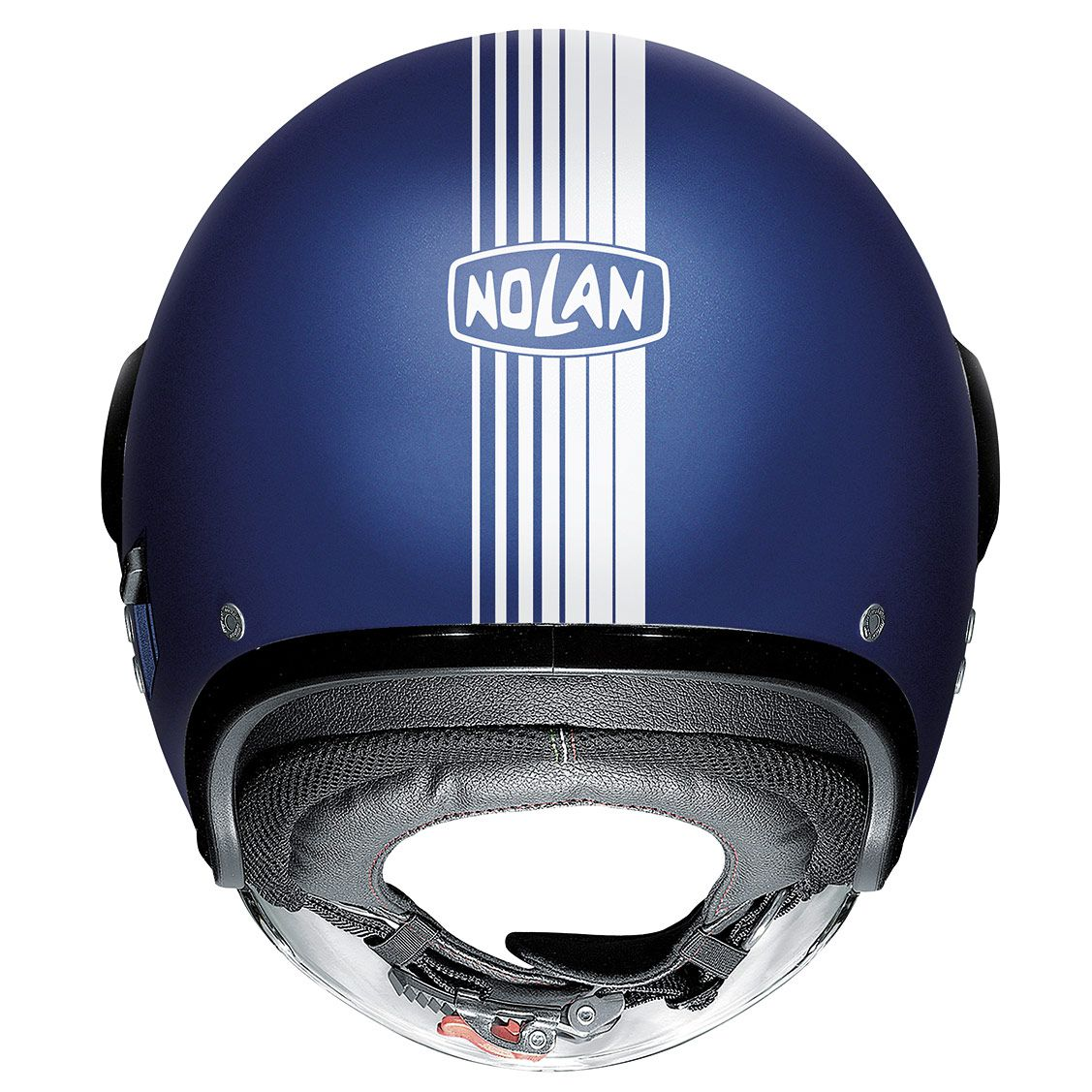 Capacete Nolan N21 Joi De Vivre Azul Fosco (53) - Com Óculos Interno  - Planet Bike Shop Moto Acessórios