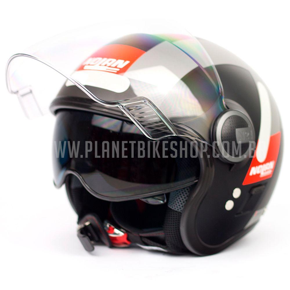 Capacete Nolan N21 Spheroid Vermelho Fosco (51) - Com Óculos Interno - SuperOferta - Blade  - Planet Bike Shop Moto Acessórios